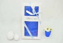 Полотенце из бамбука синие