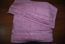 Полотенце Оздилек Бамбук Оттоман F00043 темно-розовое