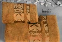 Полотенца из бамбука горчичное