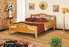 """кровать из дуба """"Крокус - 2 спинки"""""""