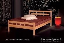 кровать из сосны Александрия - 2 спинки