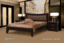 Кровать из сосны Дуэт (кожа) - 1 спинка