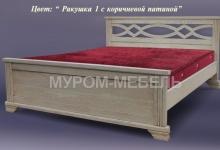 Кровать Лира из дуба