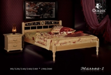 """кровать из дуба """"Мальва - 1 спинка"""""""
