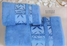 Полотенца из бамбука небесное