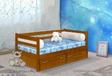 """кровать из дуба одноярусная """"Детская № 4 """"(с ящиками)"""