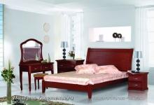 """кровать из дуба """"Палермо (плетение) - 1 спинка"""""""