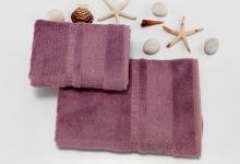 Полотенца из бамбука брусничные