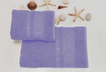 Полотенца из бамбука сиреневые