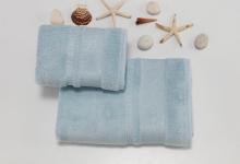 Полотенца из бамбука голубые