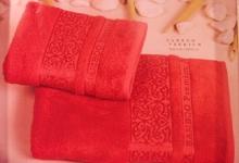 Полотенца из бамбука красные