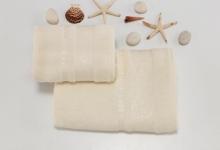 Полотенца из бамбука крем