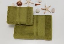 Полотенца из бамбука олива