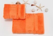 Полотенца из бамбука оранжевые