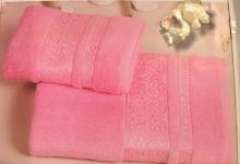 Полотенца из бамбука розовое