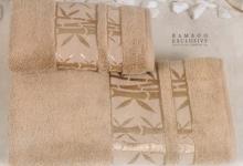 Полотенца из бамбука бежевое