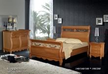 """кровать из дуба """"Сорренто - 2 спинки"""""""