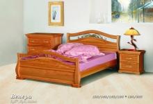 """кровать из дуба """"Венера - 2 спинки"""""""