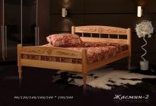"""кровать из дуба """"Жасмин - 2 спинки"""""""