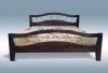 Кровать Алиса с ковкой из дуба