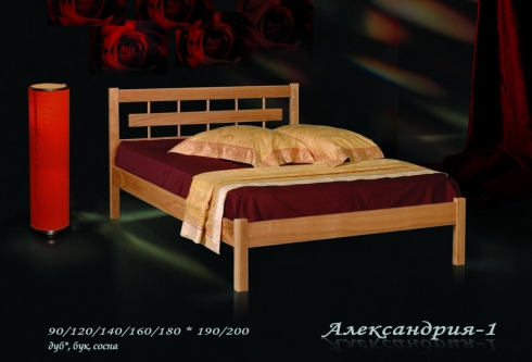 """кровать из дуба """"Александрия - 1 спинка"""""""