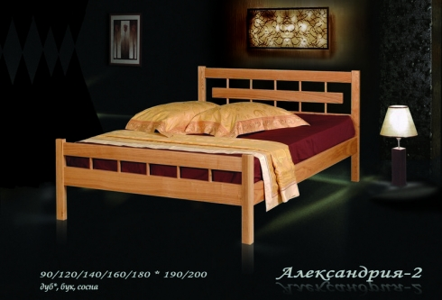 """кровать из дуба """"Александрия - 2 спинки"""""""
