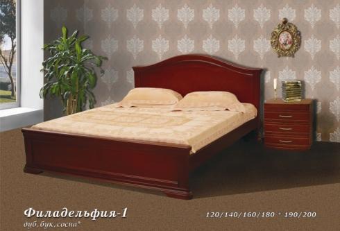 """кровать из дуба """"Филадельфия - 1 спинка"""""""