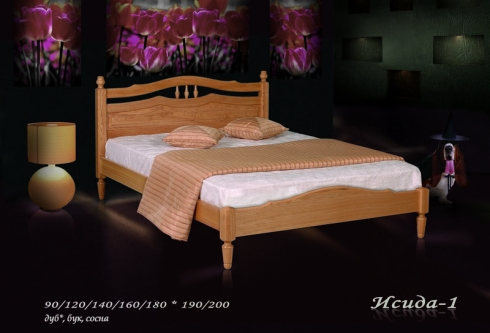 """кровать из дуба """"Исида - 1 спинка"""""""