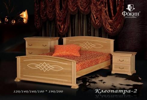 """кровать из дуба """"Клеопатра - 2 спинки"""""""