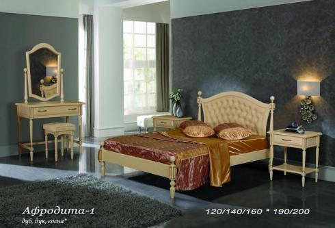кровать из сосны Афродита (кожа) - 1 спинка