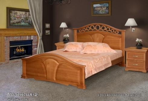 Кровать из сосны Валенсия - 2 спинки