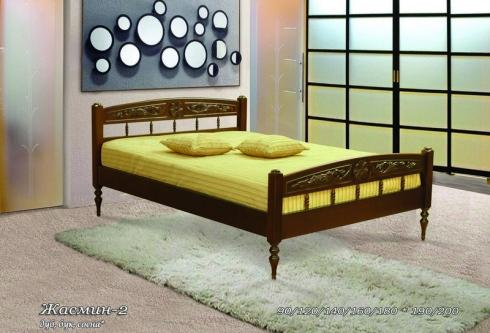 Кровать из сосны Жасмин - 2 спинки