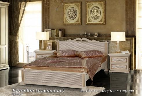 """кровать из дуба """"Купидон (плетение) - 1 спинка"""""""