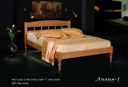 """кровать из дуба """"Лилия - 1 спинка"""""""