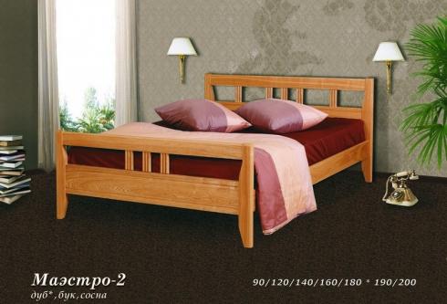 """кровать из дуба """"Маэстро - 2 спинки"""""""
