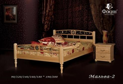 """кровать из дуба """"Мальва - 2 спинки"""""""