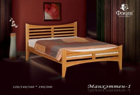 """кровать из дуба """"Манхэттен - 1 спинка"""""""