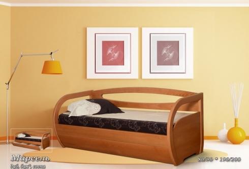 """кровать из дуба """"Марсель"""""""