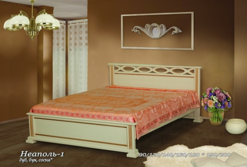 """кровать из дуба """"Неаполь - 1 спинка"""""""
