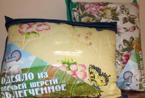 Одеяло из овечьей шерсти облегченное