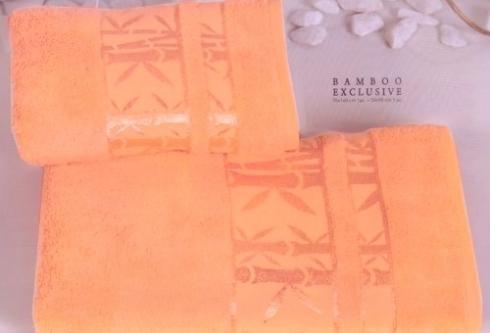 Полотенца из бамбука персиковое
