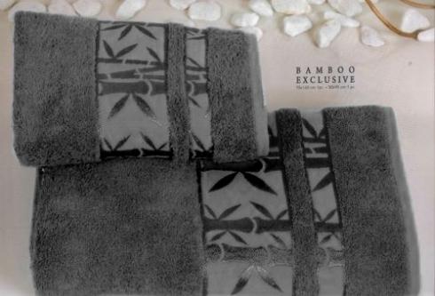 Полотенца из бамбука серое