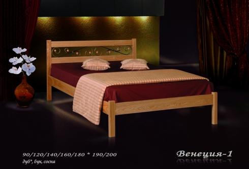"""кровать из дуба """"Венеция - 1 спинка"""""""