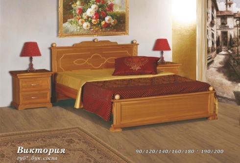 """кровать из дуба """"Виктория - 2 спинки"""""""